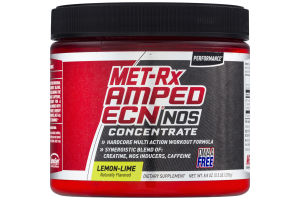 MET-Rx Amped ECN NOS Concentrate Lemon-Lime Flavored