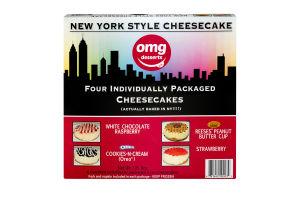 OMG Desserts New York Style Cheesecake Variety Pack - 4 CT