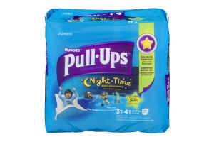 Huggies Pull-Ups Training Pants Night Time Glow In The Dark Size 3T-4T - 21 CT