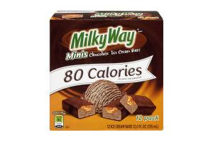Milky Way 80 Calories Minis Chocolate Ice Cream Bars - 12 PK