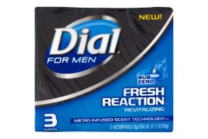 Dial For Men Fresh Reaction Revitalizing Soap Bars Sub Zero - 3 CT