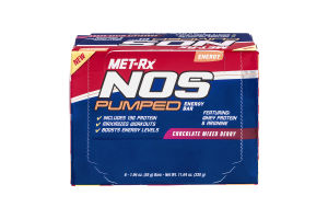 MET-Rx NOS Pumped Energy Bar Chocolate Mixed Berry - 6 CT