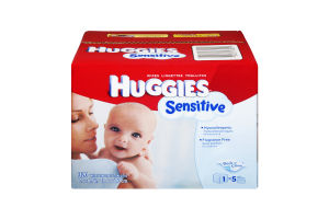 Huggies Sensitive Thick 'n' Clean Fragrance Free Baby Wipes - 320 CT
