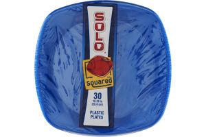 Solo Plastic Plates Squared Blue - 30 CT