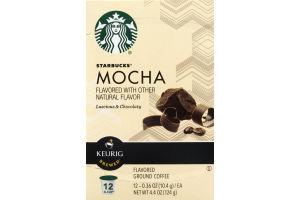 Starbucks Keurig Brewed Mocha Ground Coffee K-Cup - 12 CT