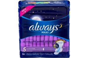 Always Maxi Extra Heavy Overnight Pads - 36 CT