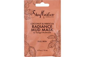 SheaMoisture Coconut & Hibiscus Radiance Mud Mask w/ Songyi Mushroom