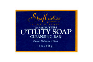 Shea Moisture Groom & Shave Three Butters Utility Soap Cleansing Bar