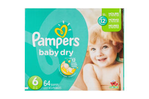 Pampers Baby Dry Diapers Size 6 - 64 CT