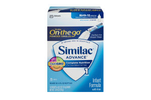Similac Advance On-the-go Power Singles Infant Formula with Iron - 16 CT