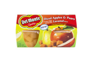 Del Monte Diced Apples & Pears in Extra Light Syrup with Caramel Flavor - 4 CT