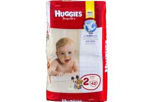 Huggies Snug & Dry Diapers Disney Jumbo Pack 2 12-18 lb - 42 CT