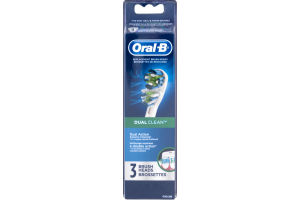 Oral-B Professional Dual Clean Replacement Brush Heads 3 Count