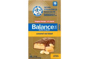Balance Bar Gold Nutrition Energy Bar Caramel Nut Blast - 15 CT