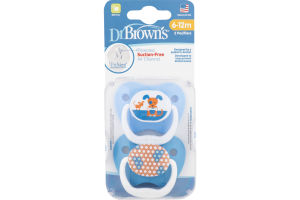 Dr Brown's Pacifiers 6-12M - 2 CT