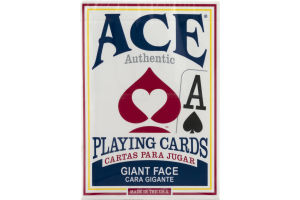 Ace Authentic Playing Cards Giant Face