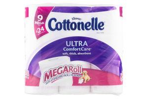 Kleenex Cottonelle Ultra ComfortCare Toilet Paper Mega Rolls - 9 CT