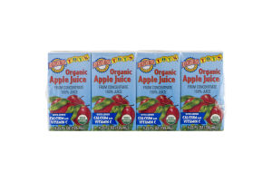 Earth's Best Tots Organic Apple Juice - 4 CT