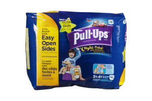 Huggies Pull Ups Training Pants Night Time Extra Absorbency Glow in the Dark 3T-4T - 46 CT