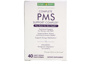 Nature's Bounty Complete PMS Support Complex Dietary Supplement Rapid Release Liquid Softgels - 40 CT