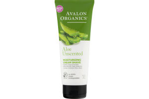 Avalon Organics Aloe Unscented Moisturizing Cream Shave