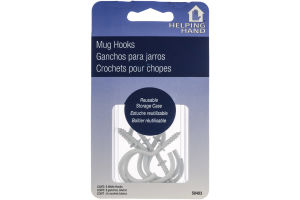 Helping Hand Mug Hooks White - 6 CT