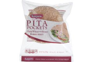 Kangaroo Pita Pockets Whole Wheat with Honey - 6 CT