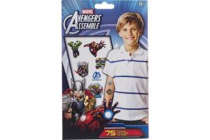 Marvel Avengers Assemble Tattoos - 75 CT
