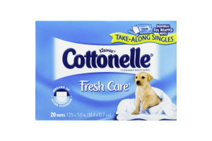Kleenex Cottonelle Fresh Care Take Along Singles Flushable Moist Wipes - 20 CT