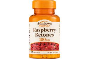 Sundown Naturals Raspberry Ketones 100mg Capsules - 60 CT
