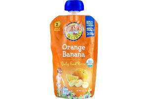 Earth's Best Organic Stage 2 Orange Banana Baby Food Puree