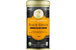 Zhena's Gypsy Tea Peach Ginger Black Tea Sachets - 22 CT