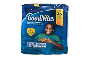 GoodNites Bedtime Underwear Boys L-XL - 24 CT