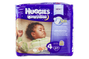 Huggies Over Nites Diapers Over 35 lb - 27 CT