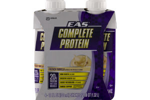 EAS Complete Protein French Vanilla Shakes - 4 CT