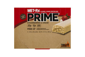 MET-Rx Prime Protein Bar Strawberries & Cream - 6 CT