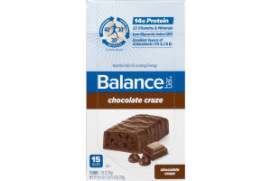 Balance Bar Nutrition Bar Chocolate Crazy - 15 CT