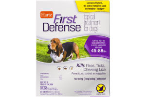 Hartz First Defense Topical Treatment for Dogs 45-88lbs - 3 CT