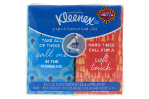 Kleenex Go Pack Tissue Packs - 8 PK