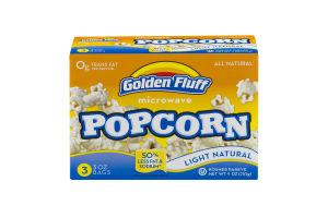 Golden Fluff Microwave Popcorn Light - 3 CT