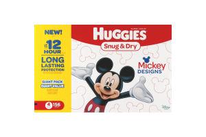 Huggies Diapers Snug & Dry Mickey Designs Size 4 - 156 CT