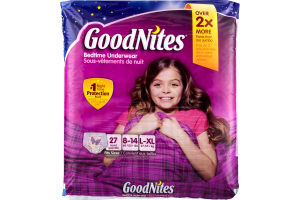 GoodNites Bedtime Underwear - 27 CT