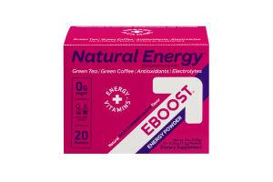 Natural Energy EBOOST Energy Powder - 20 CT