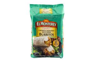 El Monterey Chicken & Monterey Jack Cheese Burritos - 12 CT