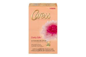 Caress Fine Fragrance Daily Silk Silkening Beauty Bars - 6 CT