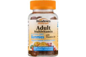 Sundown Naturals Adult Multivitamin with Vitamin D3 Gluten-Free Gummies - 50 CT