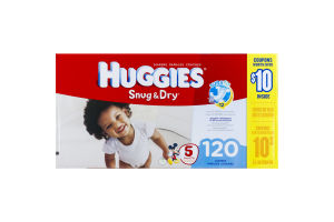 Huggies Snug & Dry Disney Baby Leak Lock Diapers Size 5 (Over 27 lb) - 120 CT