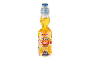 Kimura Ramune Carbonated Soft Drink Orange Flavor