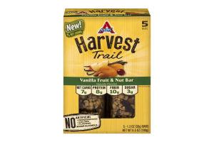 Atkins Harvest Trail Bars Vanilla Fruit & Nut - 5 CT