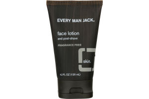 Every Man Jack Skin Face Lotion And Post-Shave Fragrance Free